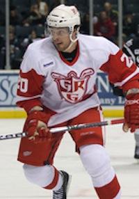 Brandon Straub on the ice